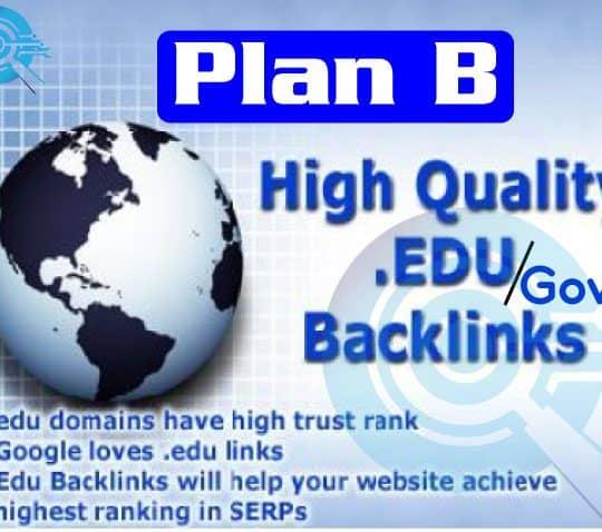 Edu and Gov backlinks