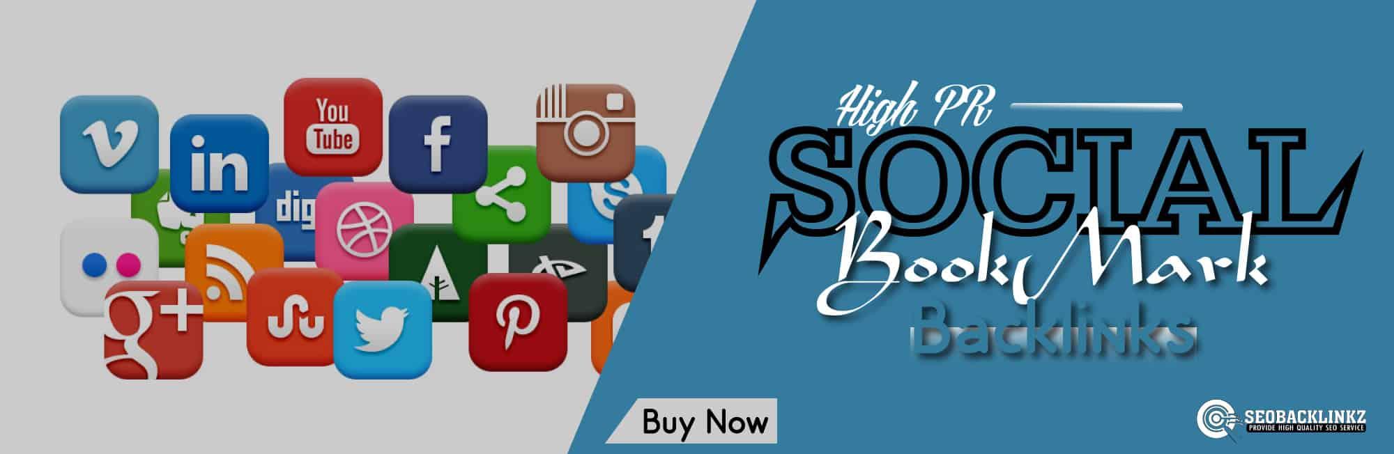 High PR social bookmark Backlinks